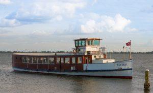Salonboot Elvira, geschikt voor borrels, diners, recepties en vergaderingen.