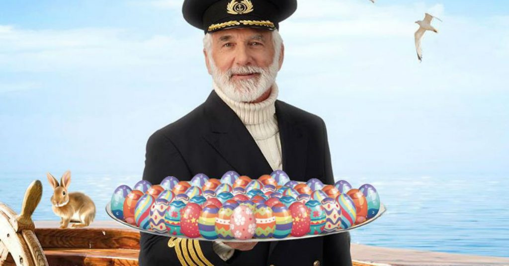 pasen kapitein met eieren varen naar Pampus en Muiderslot Veerdienst Amsterdam